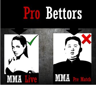 MMA pro bettors